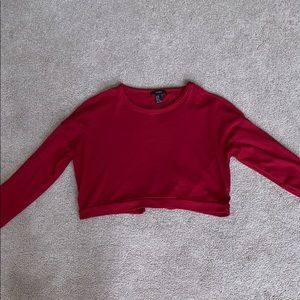 Forever 21 Red Open Back Sweater